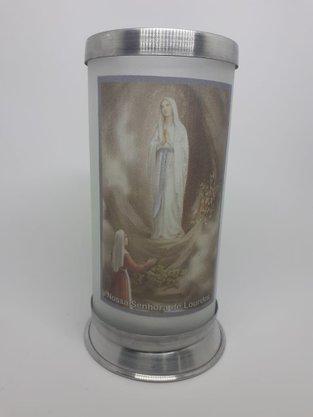 Porta Vela  com Imagem Colorida - N. S. de Lourdes -