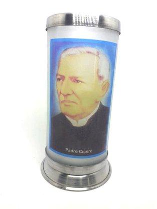 Porta Vela  com Imagem Colorida - Padre Cícero -