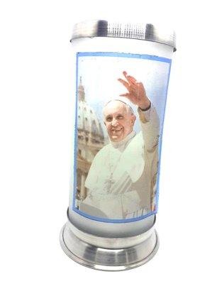 Porta Vela com Imagem Colorida - Papa Francisco -