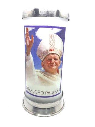 Porta Vela  com Imagem Colorida - Papa São João Paulo II -