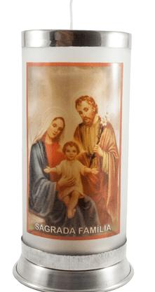 Porta Vela  com Imagem Colorida - Sagrada Família -