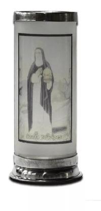 Porta Vela  com Imagem Colorida - Santa Edwiges -