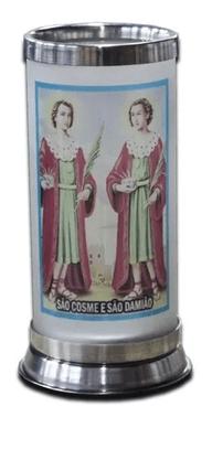 Porta Vela com Imagem Colorida - São Cosme e Damião -