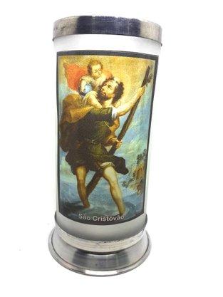 Porta Vela  com Imagem Colorida - São Cristóvão -