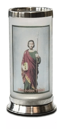 Porta Vela com Imagem Colorida - São Judas Tadeu -