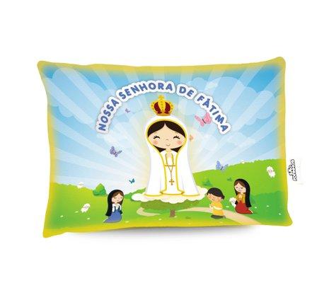 Travesseiro Nossa Senhora de Fátima - Aromatizado  Chá de Camomila -