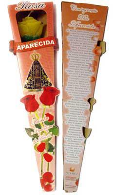 Vela Botão de Rosa Perfumada - N. S. Aparecida -