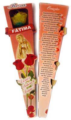 Vela Botão de Rosa Perfumada - N. S. de Fátima -