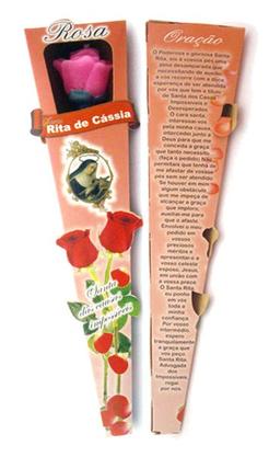 Vela Botão de Rosa Perfumada - Santa Rita de Cássia -