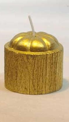 Vela Decorativa  - Cilíndrica -Dourado -