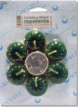 Vela Repelente de Andiroba - Cartela com 6 velas e 1 Rechô -