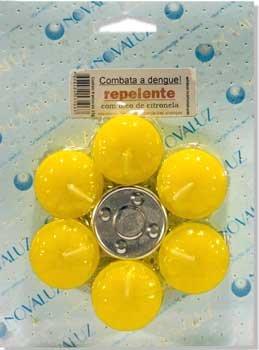 Vela Repelente de Citronela - Cartela com 6 velas e 1 Rechô -