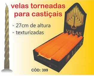 Velas Torneadas  Texturizada para Castiçais  - 27 cm -