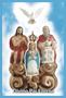 Porta Vela Fosco com Imagem Colorida - Divino Pai Eterno -