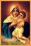 Porta Vela  com Imagem Colorida - Mãe Rainha -