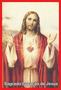 Porta Vela  com Imagem Colorida - Sagrado Coração de Jesus -