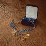 Terço na Corrente Nossa Senhora Aparecida  - 300 Anos - Azul/Dourado -