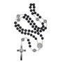 Terço - São Bento na Corrente de inox com Crucifixo resinado e com entremeios de Medalha -