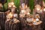 Velas Lamparinas Cartelas com 5 velas - Multi-color -